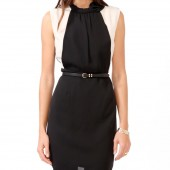 Contrast Panel Bow Dress 27.80 - Forever 21