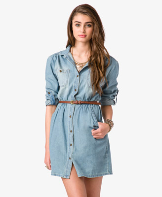 Denim Dress w Belt 24.80 Forever 21