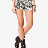 Ganado Print Denim Shorts - $19.80 - Forever 21