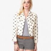 Geo Print Denim Jacket - $24.80 - Forever 21
