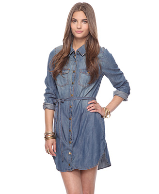 Life In Progress™ Belted Denim Sundress 29.80 Forever 21