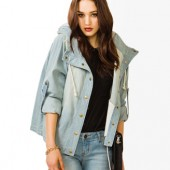 Life In Progress™ Drawstring Denim Jacket - $34.80 - Forever 21