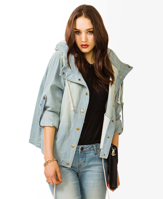 Life In Progress™ Drawstring Denim Jacket 34.80 Forever 21