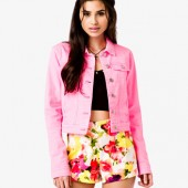 Neon Denim Jacket - $27.80 - Forever 21