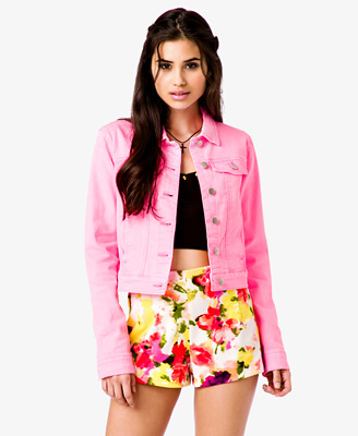 Neon Denim Jacket 27.80 Forever 21