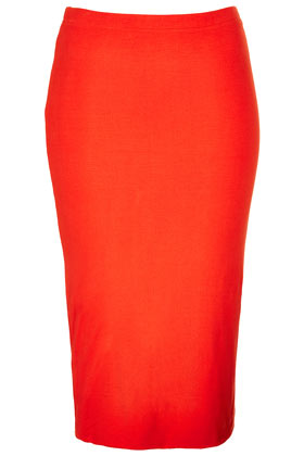 Red Double Layer Tube Skirt 40