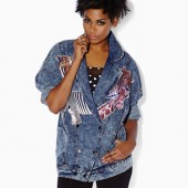 Safari Graphic Denim Jacket - $47.80 - Forever 21