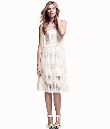 Strapless Eyelet Dress 49.95 - HM