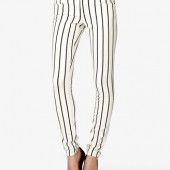 Vertically Striped Skinny Jeans - $22.80 - Forever 21