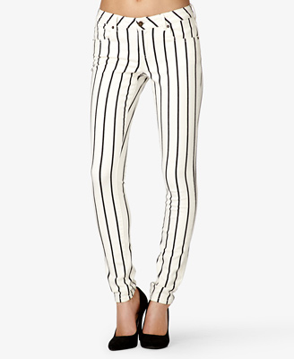 Vertically Striped Skinny Jeans 22.80 Forever 21