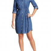 Chambray Belted-Shirt Dresses - $25.00 - Old Navy