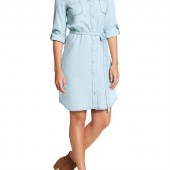 Chambray Belted-Shirt Dresses light - $25.00 - Old Navy