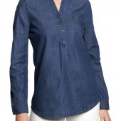 Chambray Button-Yoke Tops - $16.99 - Old Navy
