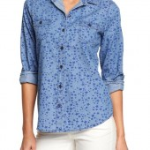 Printed Chambray Shirts - $11.99 - Old Navy