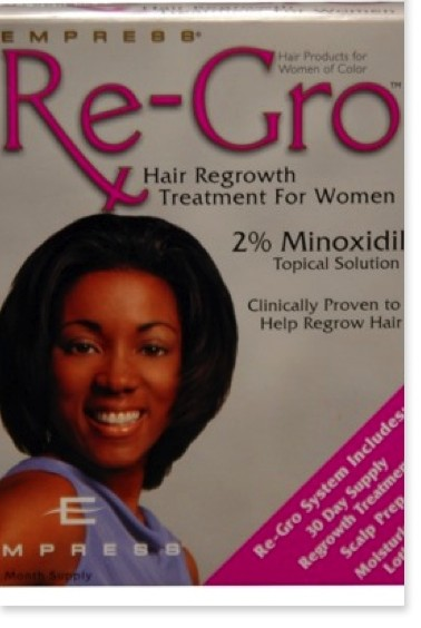 One month's supply: Empress Re-Grow 2% Minoxidil ($19.99, Target) and Men's Rogaine 5% Minoxidil ($26.99, Target)