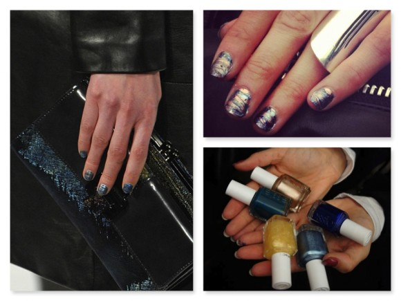 Rebecca Minkoff&#8217;s Essie oil slick manicure