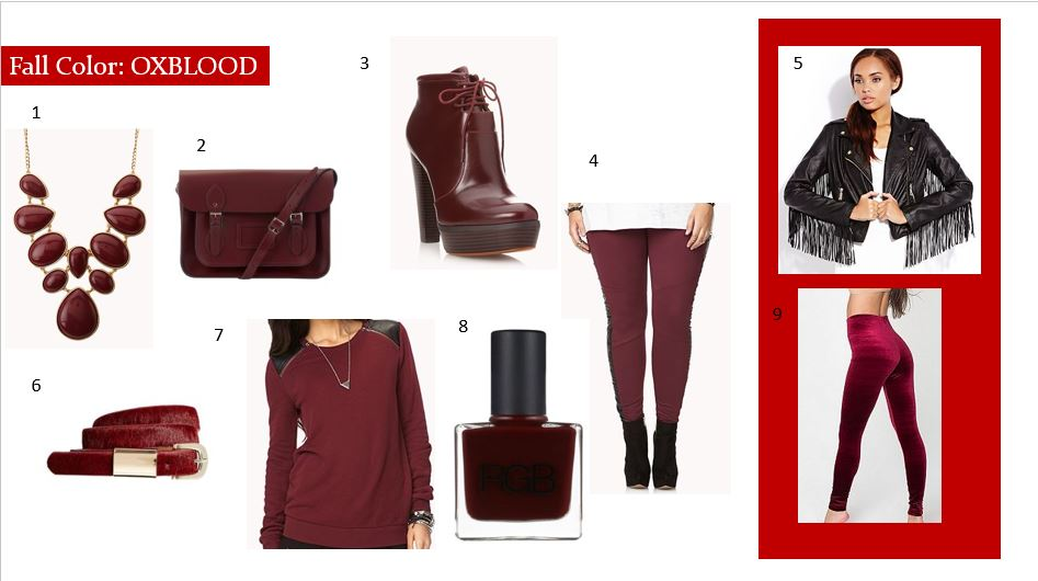 FAll color oxblood