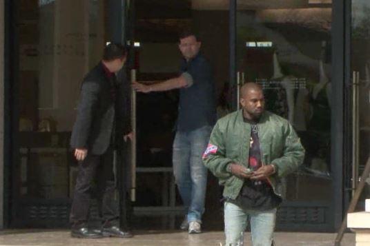 Kanye West wearing confederate flag