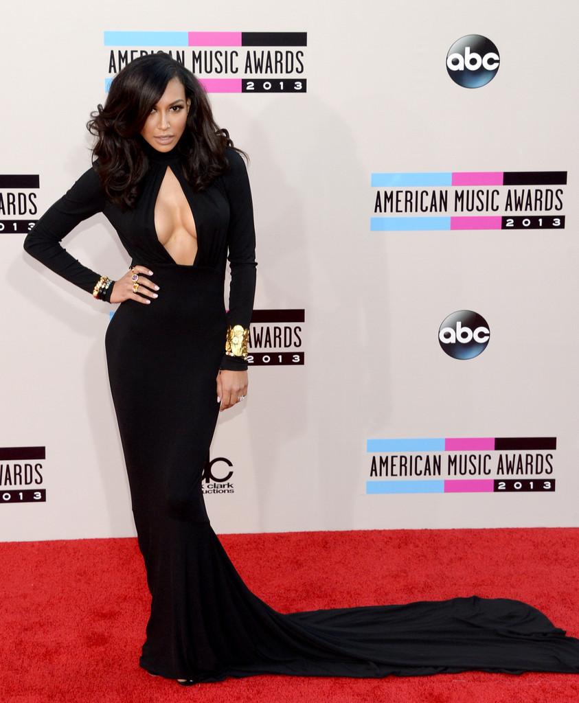 Naya-Rivera-in-Michael-Kors-2013-American-Music-Awards-AMAs