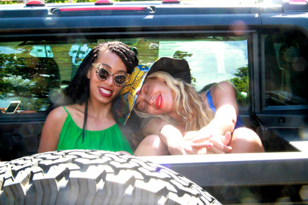 Beyonce and Solange in Jamaica