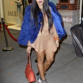 Saturday Style: Angela Simmons rocks blue fur coat, do you love it?