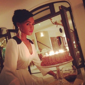 Janelle Monae celebrates her 28th birthday in Jamaica