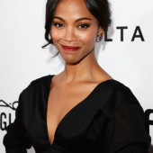 Zoe Saldana gets glam in Marni Spring 2014 at The 2013 amfAR Inspiration Gala
