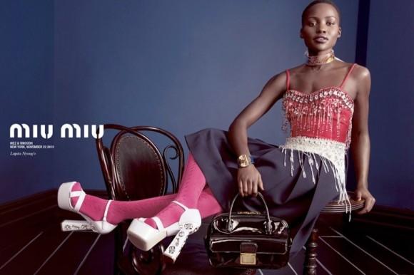 Lupita Nyong'o MIU MIU spring ad campaign