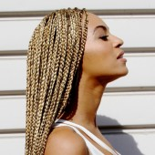 Beyonce shows off waist-length box braids