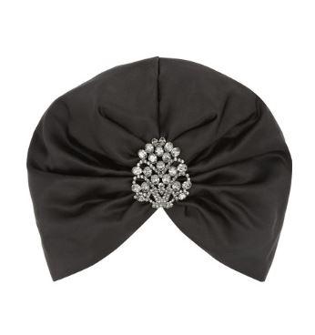 Jennifer Behr Swarovski crystal embellished silk turban