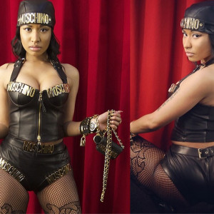 Nicki Minaj flaunts curves in leather Moschino outfit, fresh off the runway