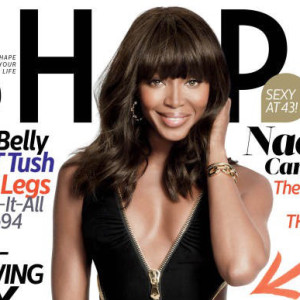 Naomi Campbell Covers 'SHAPE' magazine; her anti-aging secrets