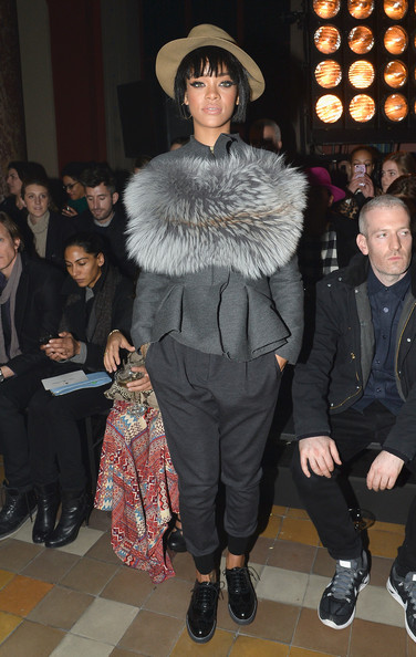 Rihanna strikes again; attends Lanvin show in fierce street wear