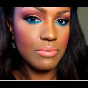 Pop of color spring makeup tutorial with make-up by Shayla
