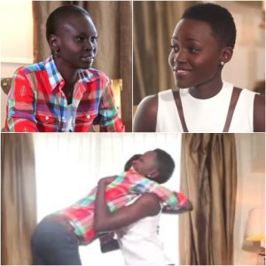 Lupita Nyong'o chats with her beauty icon, Alek Wek