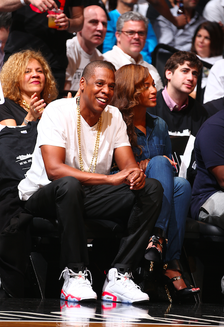 Bey and Jay at Nets Game
