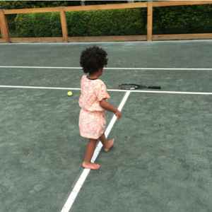 Blue Ivy on the Tennis court