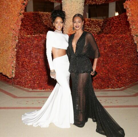 Rihanna and Beyonce Met Gala 2014
