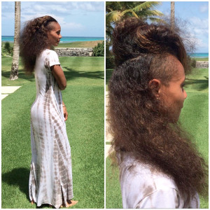 Jada Pinkett-Smith shows off her real, real long hair