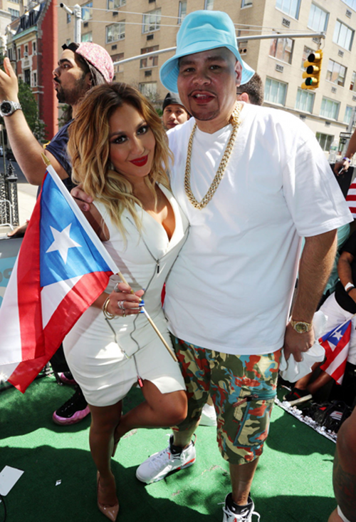 Adrienne Bailon and Fat Joe PR Parade NYC