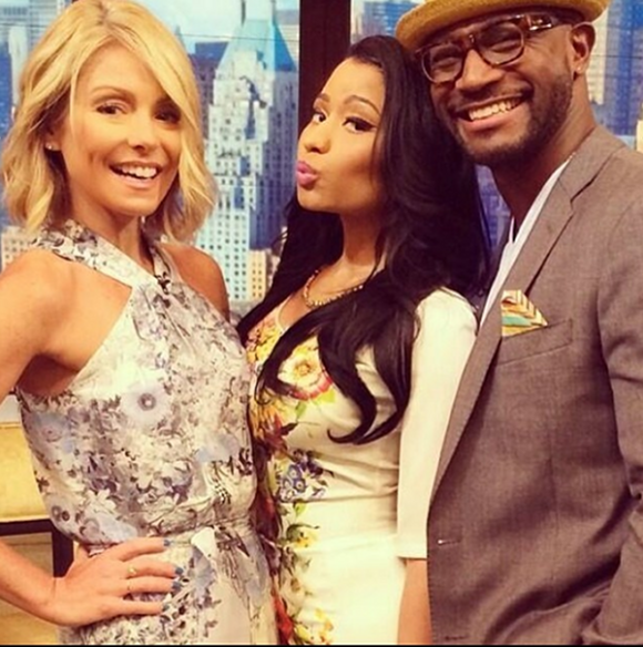 Nicki Minaj, Taye Diggs and Kelly Ripa