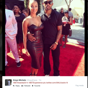 Draya Michele flaunts her curves at the 2014 BET Awards