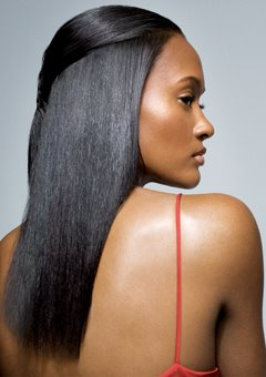 black woman straight hair