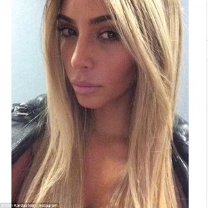 Do you love it?! Kim Kardashian debuts platinum blonde lace front wig