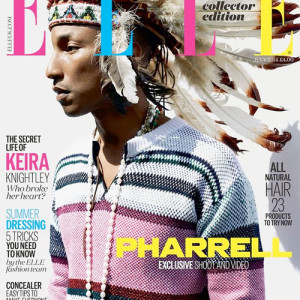 Pharrell Williams cover's 'Elle' UK's July issue