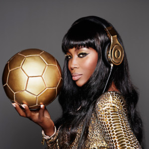 Naomi Campbell poses for Beats by Dre