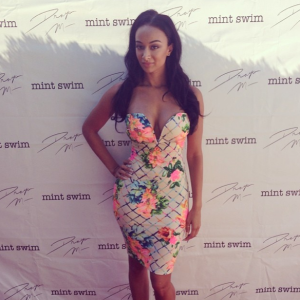 Get the look: Draya Michele's Ellyn Floral Tube Dress