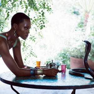 Lupita Nyong'o conquers her fear of snakes during Vogue shoot