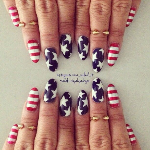 Red, white and awesome Fourth of July nail art | Talking Pretty