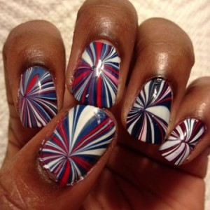 Red, white and awesome Fourth of July nail art